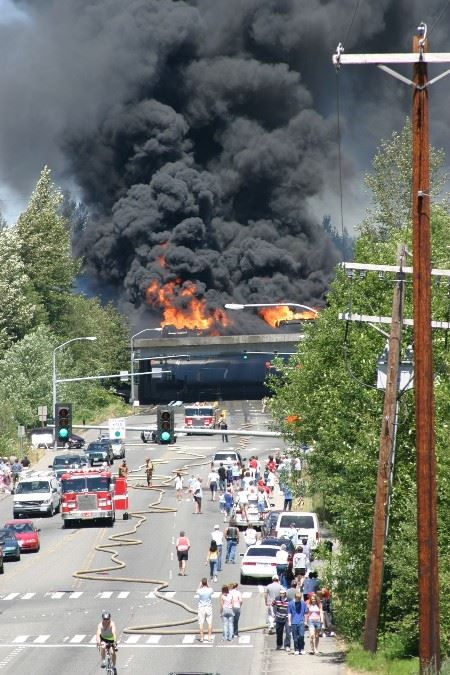 July 12 2003 fire shot showing onlookers