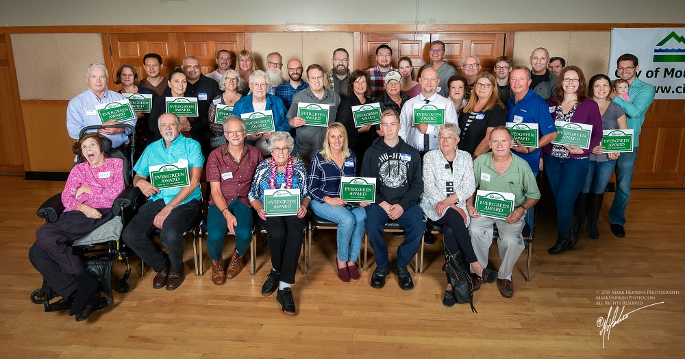 2019-EvergreenAwards-Winners holding their award plaques