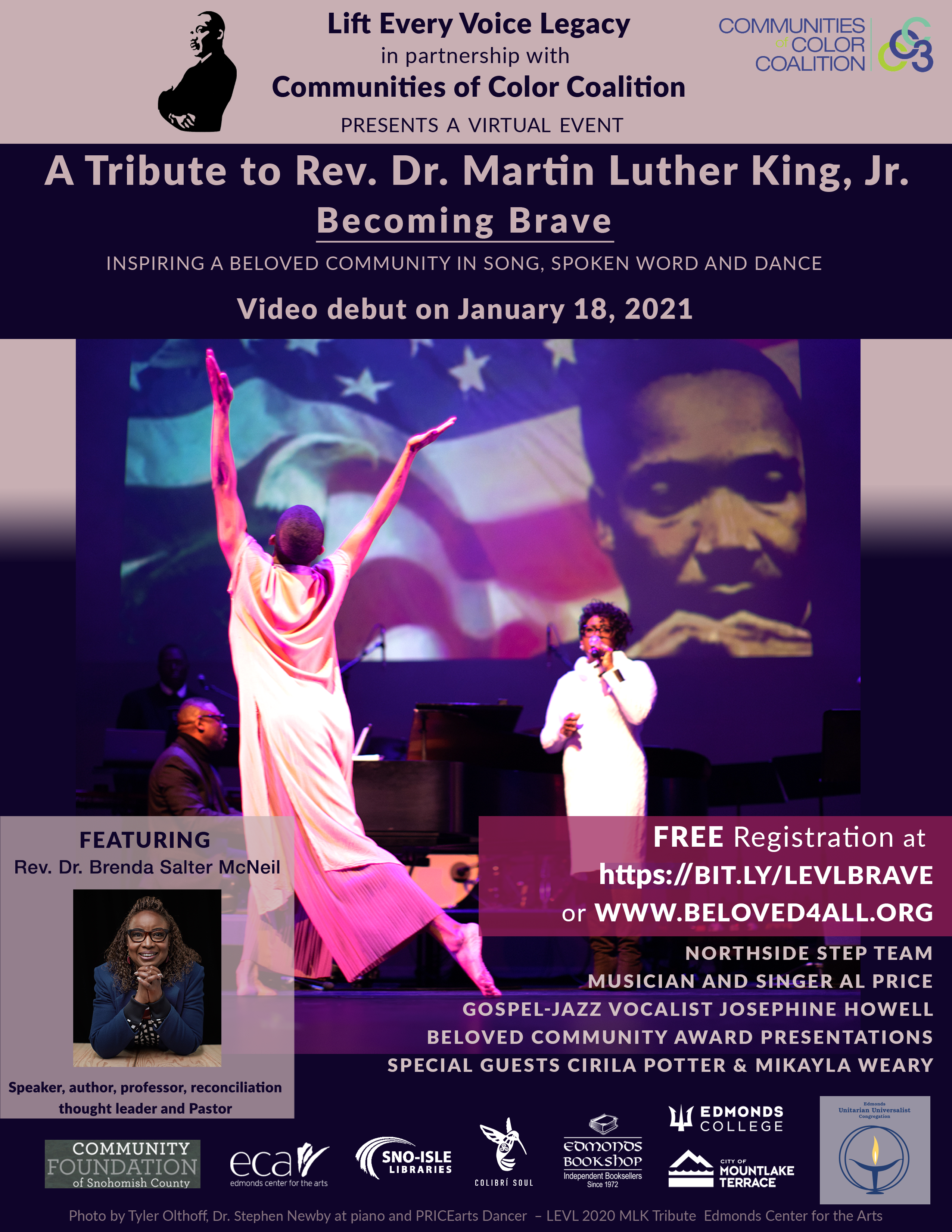 Flyer for Dr. Martin Luther King, Jr. Tribute Event
