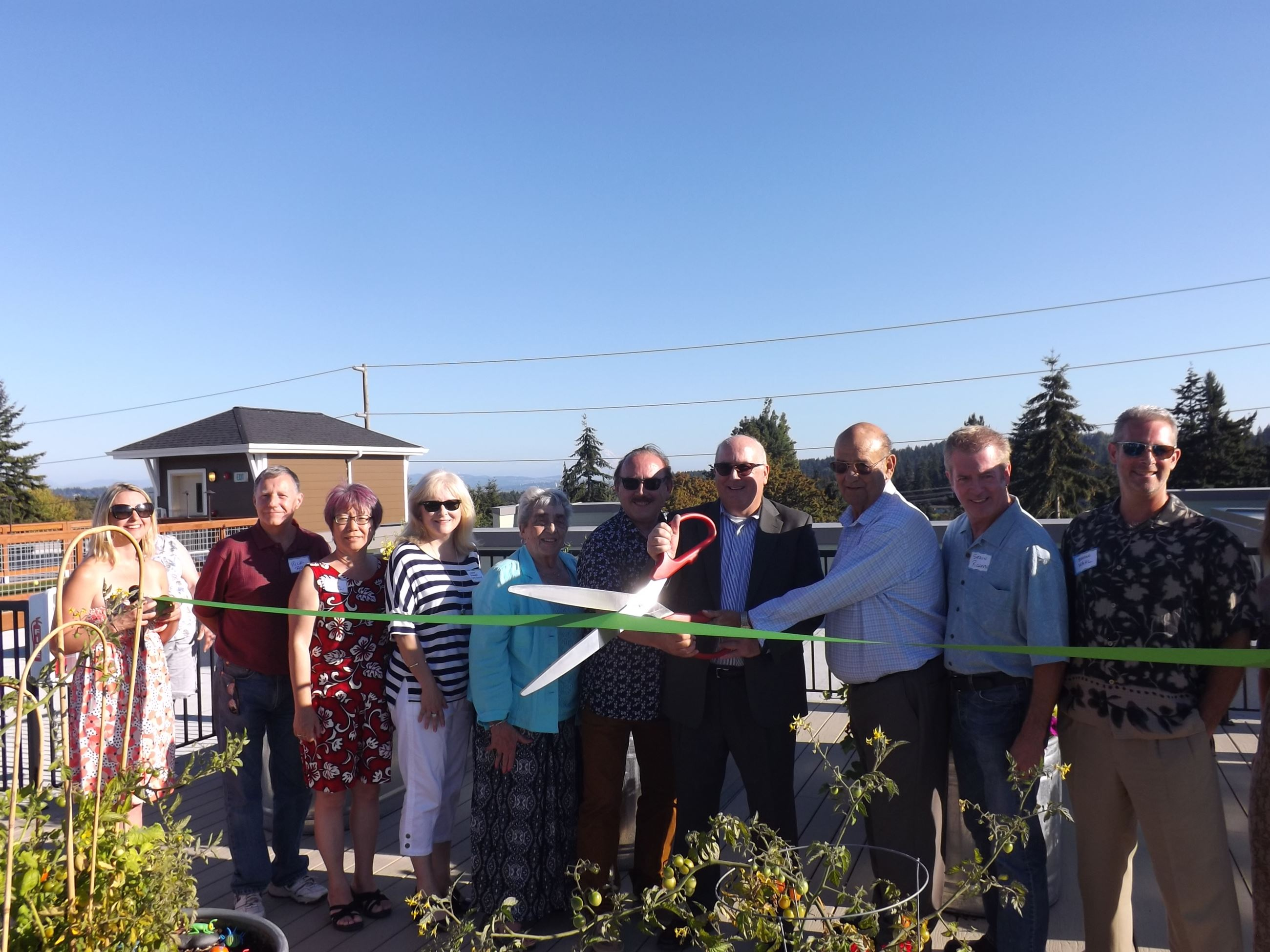 Senior Living Cutting Ribbon