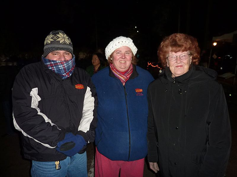 Group of people at the 2011 Tree Lighting Ceremony.