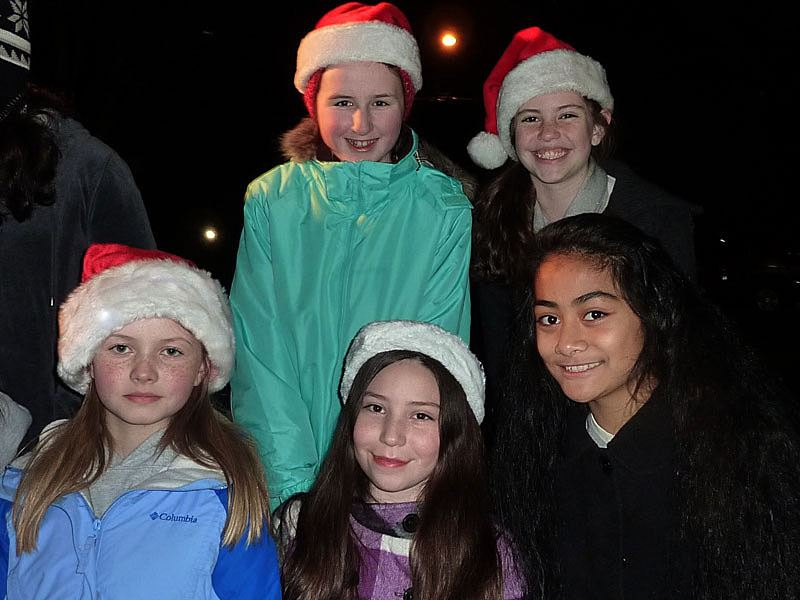 Group of little girls at the 2011 Tree Lighting Ceremony.