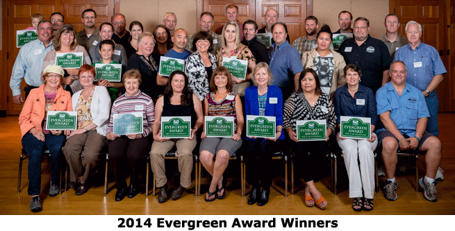 2014 Evergreen Winners