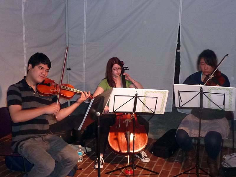 String trio perform at the 2011 Arts of the Terrace Juried Art Show.