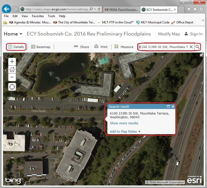FEMA Flood Insurance Information Mountlake Terrace WA - Fema map search