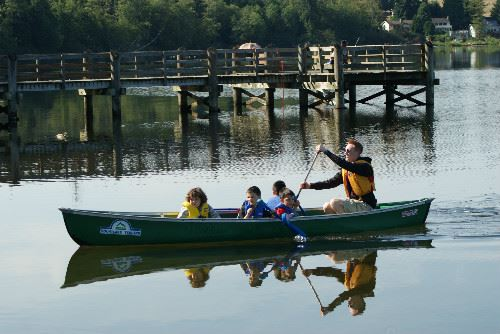 Canoeing on Lake Ballinger - Aqua Kids Camp