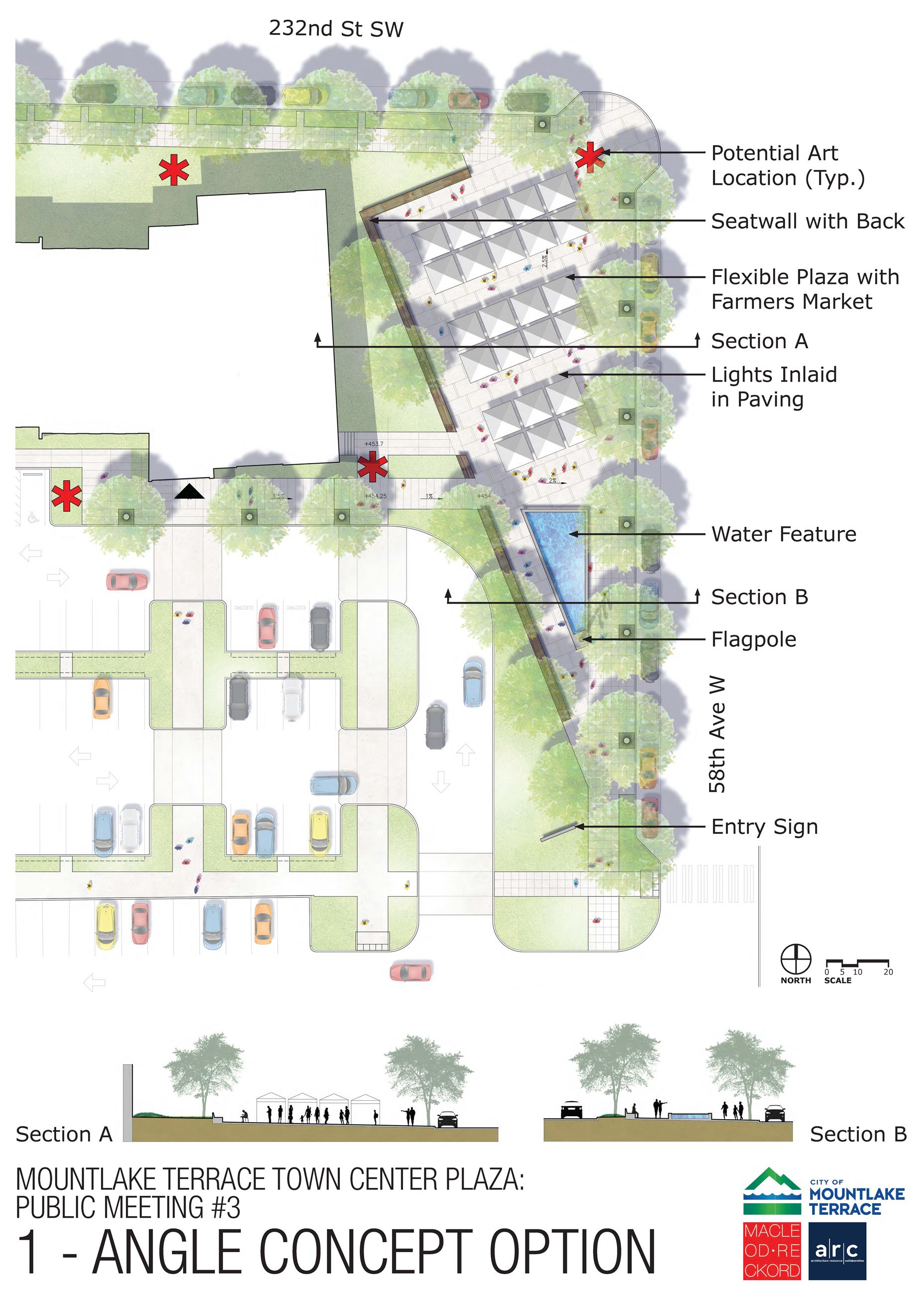 Town Center Park/Plaza Option 1