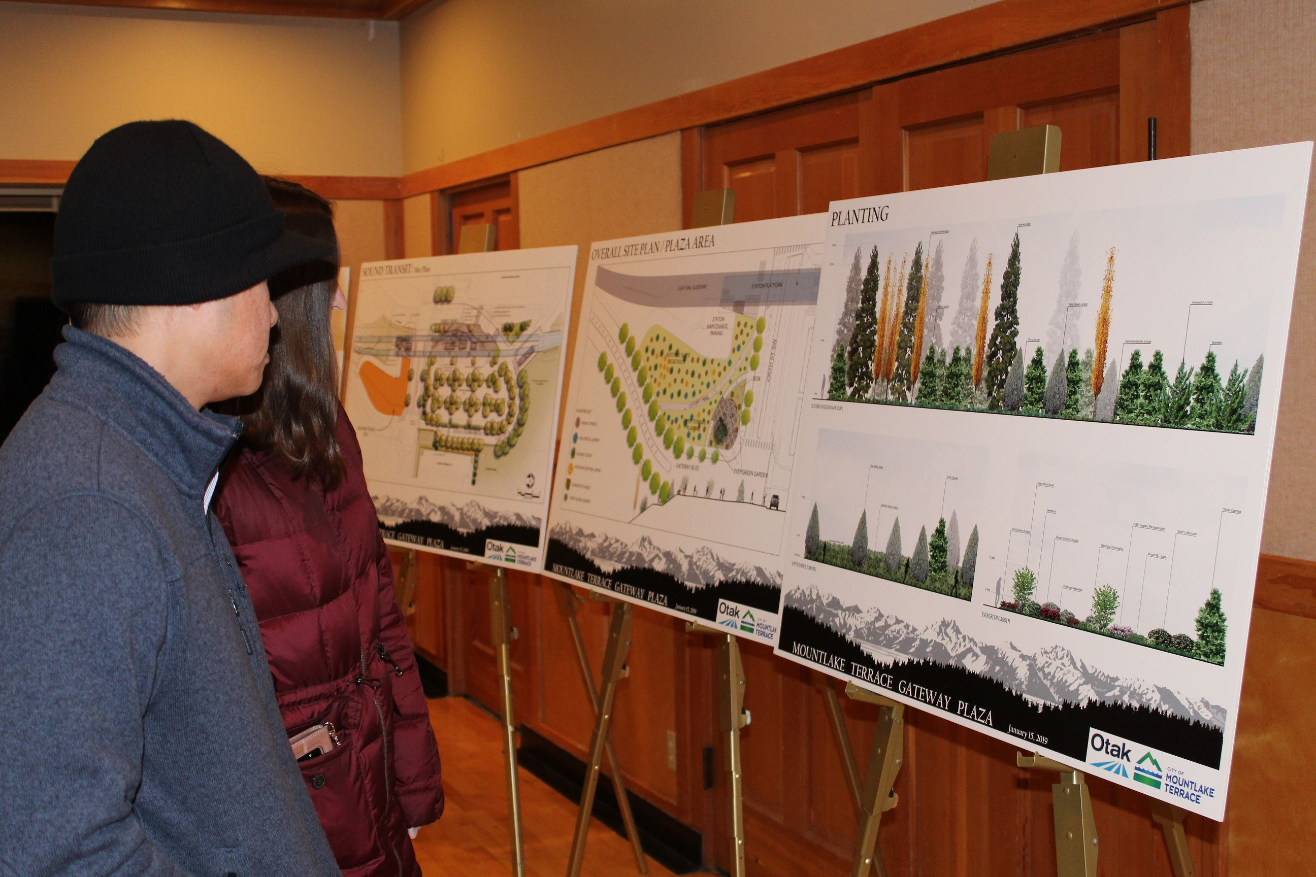 Gateway Plaza Open House January 15 - People Looking at Drawings