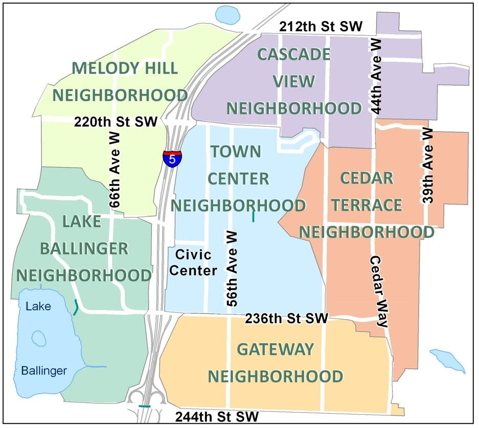 Neighborhood Map for Evergreen Awards