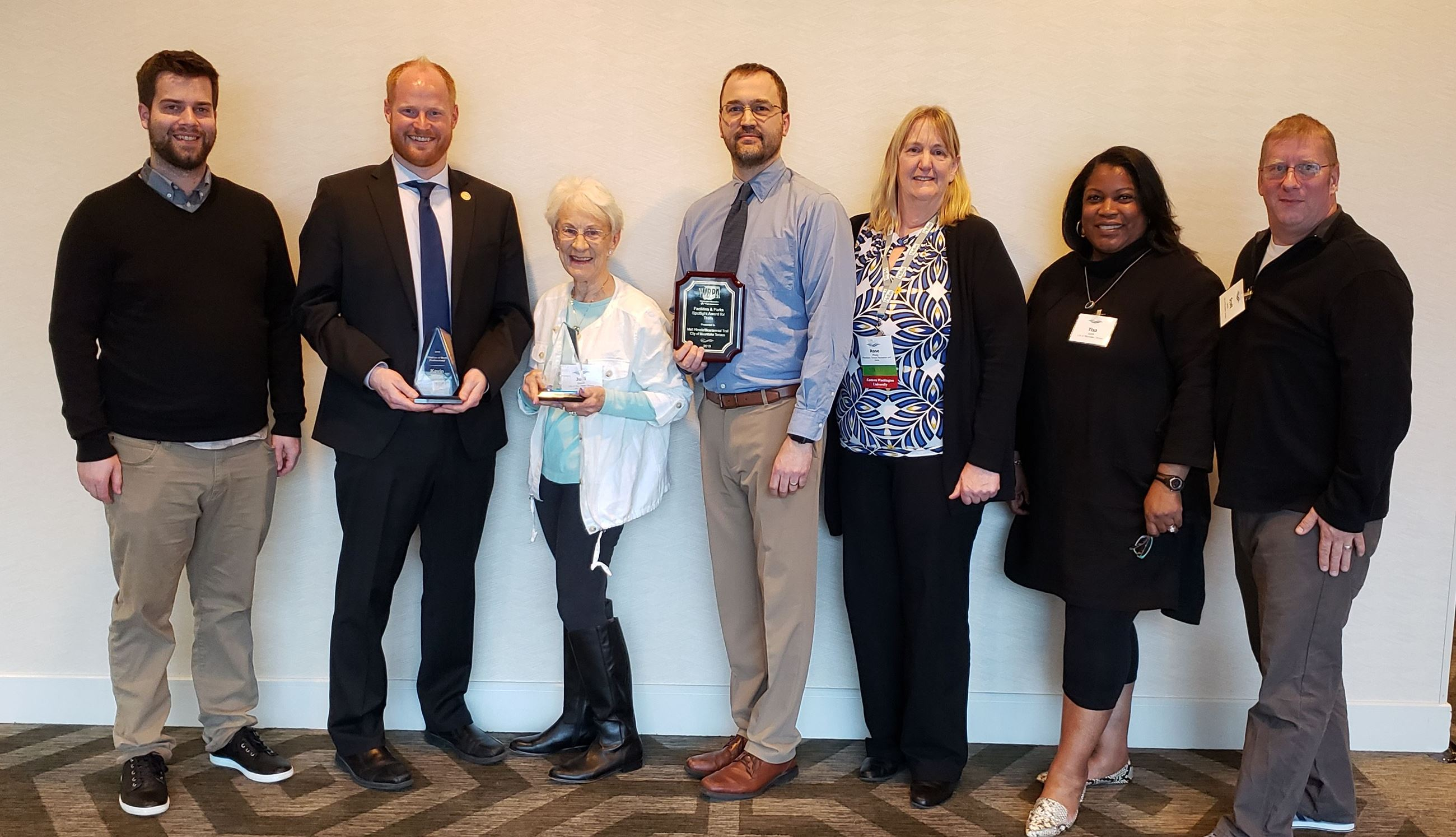 Washington Recreation & Parks Association Awards Recipients