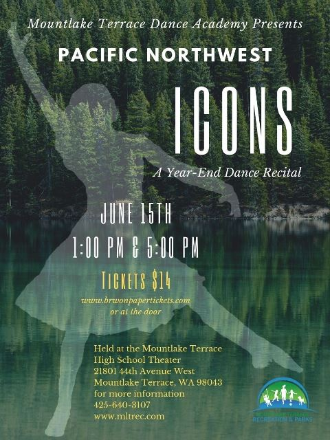 Pacific Northwest Icons Poster - A Dance Recital