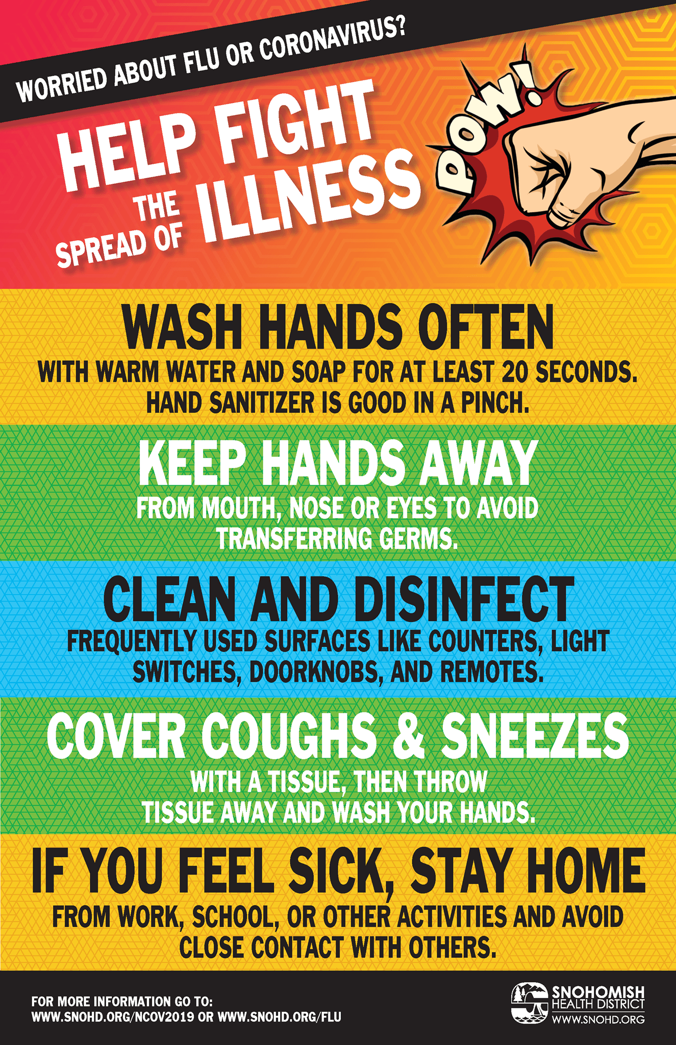 Help Fight Spread of Illness Poster