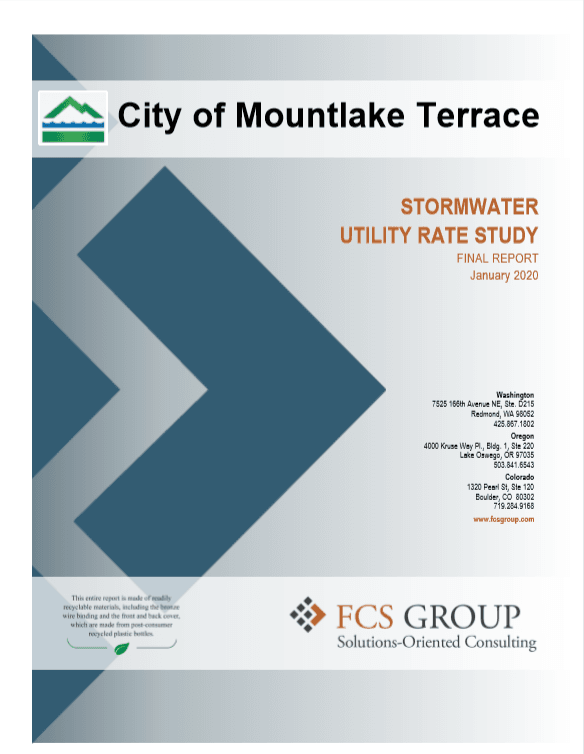 Stormwater Rate Study Cover