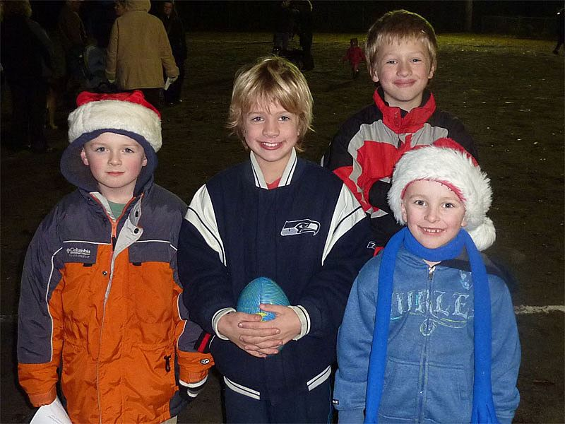 Group of kids at the 2011 Tree Lighting Ceremony.