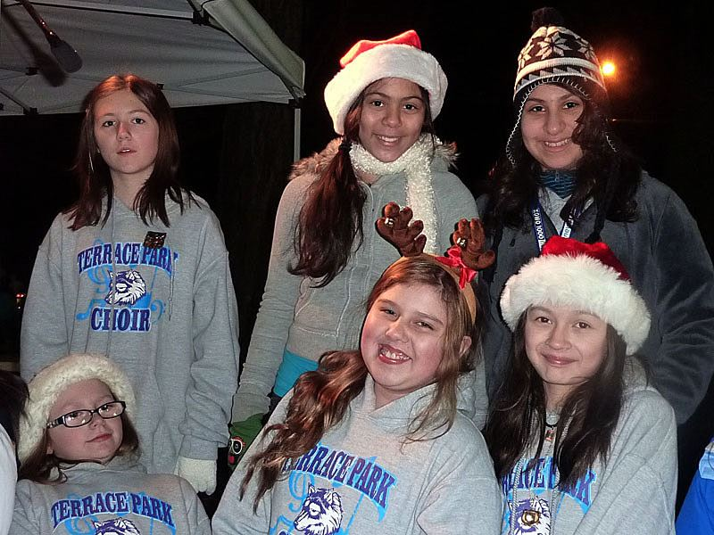 Members of the Terrace Park Choir at the 2011 Tree Lighting Ceremony.