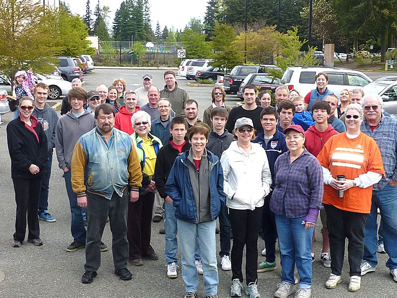 Group of volunteers at the 2011 Community Volunteer Cleanup.