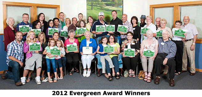 2012 Evergreen Winners