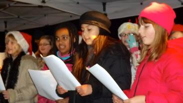 Carolers at the 2012 Tree Lighting Ceremony