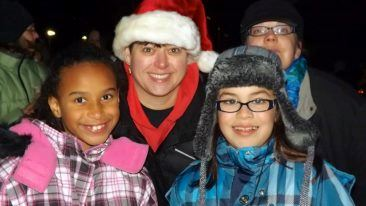 Mountlake Terrace citizens enjoying the 2012 Tree Lighting Ceremony.