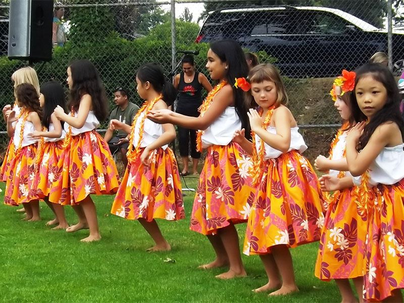 Children dancing at National Night Out 2012